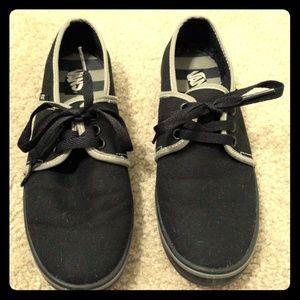 VANS shoes, black with gray trim, women's size 7